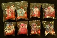 McDonald's Build-A-Bear Workshop Happy Meal Toys Complete Set Of 8 New 2015