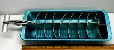 New listing Vintage Aluminum 18 Ice Cube Tray With Lever Breaker Bar 11� X 4 1/2� Green