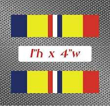 """2x CAR Combat Action Service 4"""" Ribbon Sticker Decal graphic military army navy"""