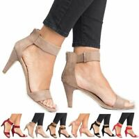 Women's Thin High Heels Sandals Summer Open Toe Ankle Strap Ladies Pumps Shoes