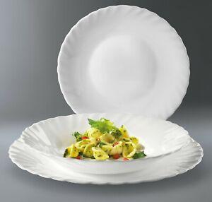 Bormioli Rocco Prima Dinner Service Set Opal Glass Tableware Dining Plate Bowl