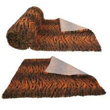 Tiger Print Orange Black High Grade Vet Bedding Non-Slip back Bed Fleece for Pet