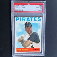 1964 Topps Ted Savage #62 💥 PSA Gem Mint 10 💥 Pop Two! Pittsburgh Pirates