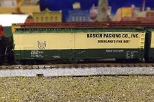 N-Scale Custom Painted  50'  RASKIN ( GRN /CRM)  REFER  # 60766