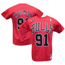 Dennis Rodman Chicago Bulls Mitchell & Ness HWC Name Number T-shirt L