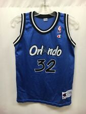 Vintage Orlando Magic Shaquille O'neal #32 Blue NBA Champion Jersey Sz Youth L