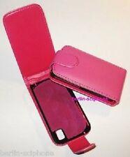 Leder Tasche Schutz Hülle Handy Samsung GT-S5230 GT S5230 Star Avila Rosa Pink