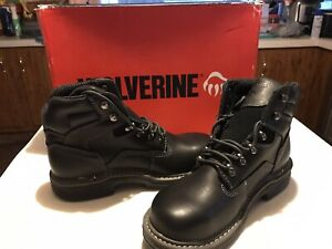 Wolverine MULTISHOX New In Box Lace-Up Black Contour Welt Men's Boots 7M