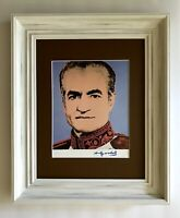 ANDY WARHOL ORIGINAL 1984 SIGNED THE SHAH OF IRAN  PRINT MATTED 11X14