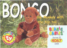 Ty Beanie Babies Bboc Card - Series 2 Common - Bongo the Monkey - Nm/Mint