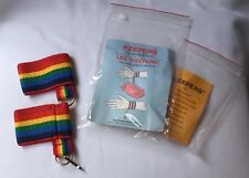 Vintage Keepers Saver Gloves & Keys Lgbt Rainbow Ski Joggers Runners Wristband