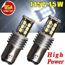 2X Super White 1157 2835 15W BAY15D High Power Tail Brake Turn LED Light US 12V
