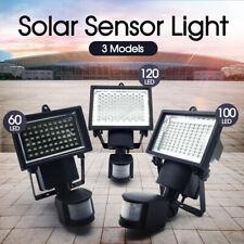 60 100 120 LED Solar Motion Sensor Light Outdoor Garden Security Lamp Floodlight