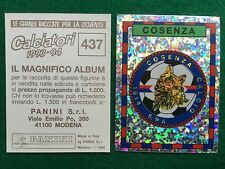 CALCIATORI 1993-94 93-1994 n 437 COSENZA SCUDETTO Figurina Sticker Panini (NEW)