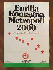 manifesto,partito socialista P.S.I.EMILIA ROMAGNA METROPOLI 2000 BOLOGNA,CONGRES