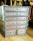 Antique Old Rare Hand Crafted Wooden Cabinet With drawers & Brass Fitting