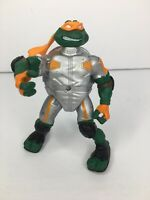 "2003 Silver Michelangelo  4.75"" Figure Teenage Mutant Ninja Turtles"