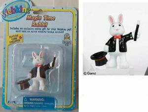 Ganz Webkinz Magic Time Rabbit Figure w/ Code New Series One