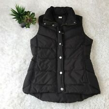 J. Crew Sz XS womens brown button down puff vest