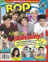 Bop Magazine One Direction Justin Bieber Selena Gomez Josh Hutcherson 2012