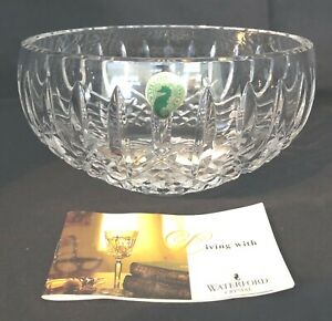 "Waterford Crystal Bowl Round D49 6"" Diameter with Original Green Sticker"