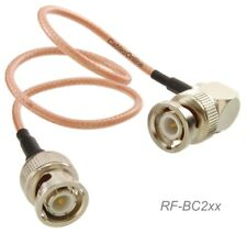 BNC Right-Angle Male to BNC Male 50-Ohm RG316 Coax Low Loss RF Cable