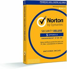 Norton Internet Security Deluxe 2020 - 5 Appareils -  1 an - Licence Officielle
