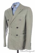 LBM 1911 Tailored Solid Olive Green LINEN COTTON Mens Blazer Sport Coat - 36 R