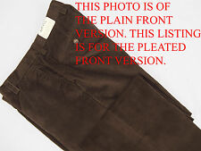 NEW! $149 Orvis Stretch Corduroy Pants (Cords)!  34  *Pleated Front*  *Brown*