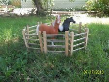 Breyer Horse Traditional scale wooden corral - pasture fence - recycled wood 6""