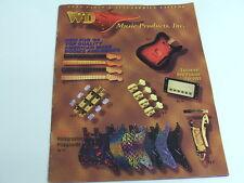 Vintage 1993 WD Electric Guitar Catalog Pickguard Pepair Parts Body Neck PROJECT