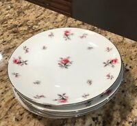 6 Vintage Meito Rosechintz Rose Chintz Salad Plates 7 1/2 Japan Floral China