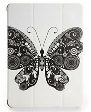"""For iPad Air 2 Case Poetic """"Trifold Stand"""" PU Leather Cover-【Slimline】 Butterfly"""