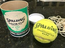 Spalding Davis Cup-Tennis Practice Set-With Spare Rubber-Aust-Melb-In Can-1950's