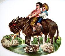 "Vintage Victorian ""TUCK"" Die Cut Titled ""Naughty Neddy"" Rocking Donkey  (N)*"