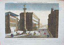 Florence: Vue de la Place et de l'Eglise de la très Ste Trinité /19éme