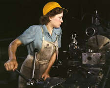 REAL LIFE ROSIE THE RIVETER 8X10 PHOTO WWII WOMEN