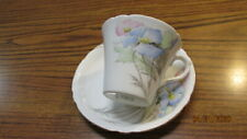 Shelley  China   Cup & Saucer  BLUE POPPY