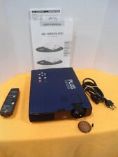 PLUS U2-870 DATA PROJECTOR with remote, user manual, ONLY 148 HOURS,FREE SHIP!