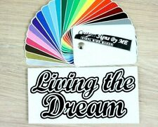 Living The Dream Wall Sticker Vinyl Decal Adhesive Car Window Bumper Tailgate