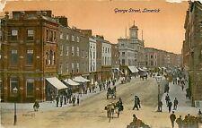 Ireland, Limerick, George Street Early Postcard