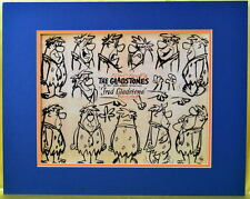 GLADSTONES / Flintstones FRED FLINTSTONE MODEL SHEET PRINT PROFESSIONALLY MATTED