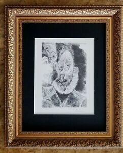 PABLO PICASSO SIGNED + 1967 PRINT FROM SERIES 347 MATTED 11 X 14