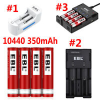 EBL 10440 Li-ion 350mAh 3.7V Rechargeable Batteries / Charger For AA AAA 10440