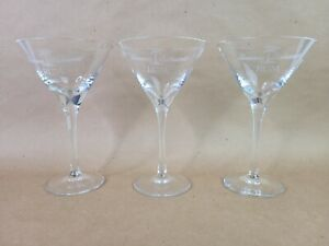 Tommy Bahama Rum Palm Tree Martini Glasses LOT of 3