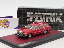 "Matrix 11302-192 # Mercedes Crayford 350 SE W116 Estate Bj. 1977 "" rot "" 1:43"
