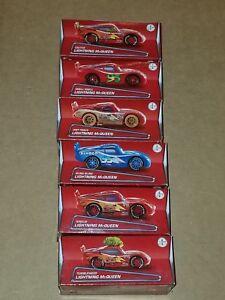 Collectors Disney Pixar Cars Lightning McQueen Complete Set #1-6 Brand New! SALE