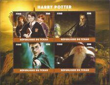 Chad - 2018 Harry Potter Movie - 4 Stamp Sheet - 3B-570