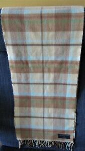 """Soft Knit Plaid Scarf, """"Softer Than Cashmere"""", by D & Y , In a Beige Plaid"""