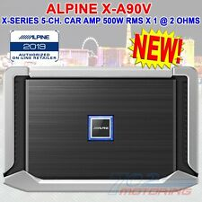 ALPINE X-A90V, X-SERIES 5-CHANNEL CAR AMPLIFIER, 500 WATTS RMS x 1 at 2 ohms NEW